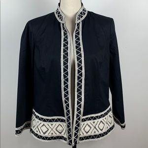 Chico's Open Front Blazer Long Sleeves Size 1